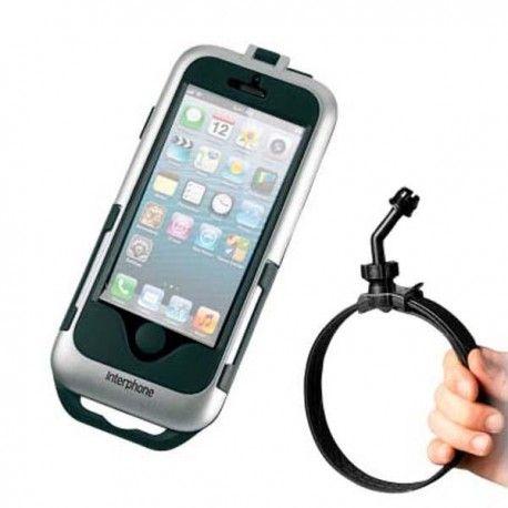 Soporte Interphone Cellularline IPHONE 5 Scooter Plata
