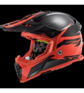 LS2 MX437 FAST EVO ROAR Negro Rojo Mate