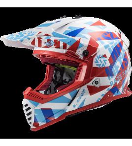 LS2 MX437 FAST EVO FUNKY Rojo Blanco