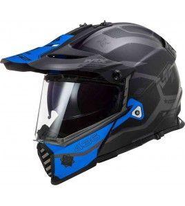 LS2 MX436 PIONEER EVO COBRA Negro Azul Mate