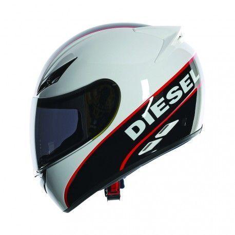 Casco Diesel FULL JACK LOGO Blanco Negro Rojo