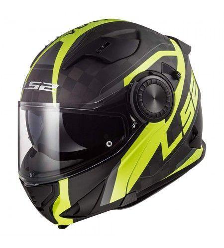 Casco convertible LS2 Helmets FF313 VORTEX SOLID Carbon Con doble homologacion