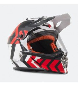 LS2 MX436 PIONEER XTREME Negro Rojo Mate