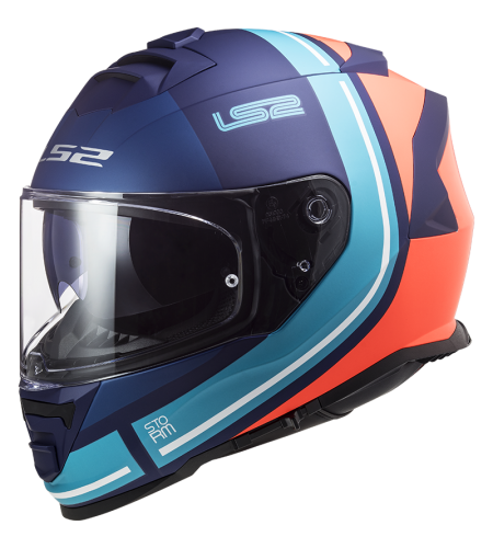LS2 FF800 STORM SLANT Azul Naranja Mate
